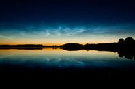 Noctilucent cloud formation, Mochrum Loch Noctilucent clouds (polar mesospheric clouds). © Copyright David Baird and licensed for reuse under  Creative Commons Licence 2.0