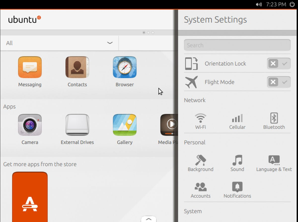 Ubuntu next mobile