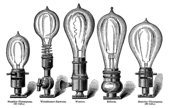 Vintage electric lamps