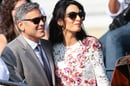 George Clooney and Amal Alamuddin on their wedding weekend in Venice