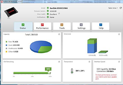 SanDisk X300_Dashboard