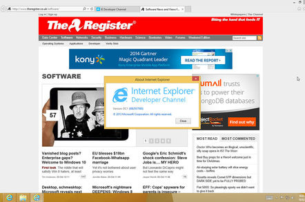 IE for Win 10 preview