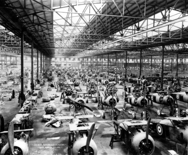 Sopwith Snipes at Ham photo credit BAE Systems via the Royal Air Force Museum