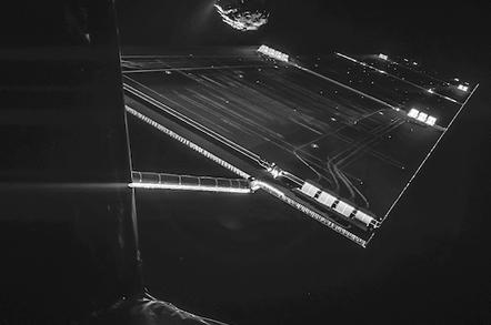 Rosetta Selfie from 10 miles