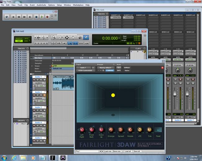 Fairlight 3DAW MDA plugin on Avid Pro Tools