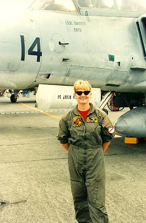 Mary Cummings at airshow