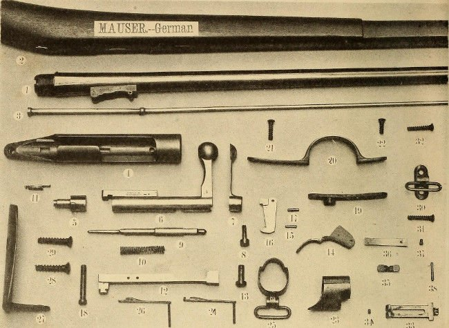Mauser rifle exploded diagram