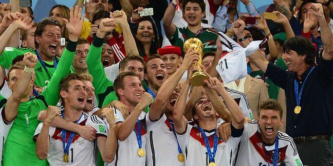 Germany celebrates winning Fifa world cup 2014 in Brazil
