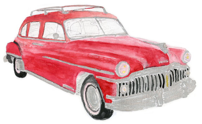 1950 DeSoto Suburban 'Hernando' illustration by Neil Young from Special Deluxe