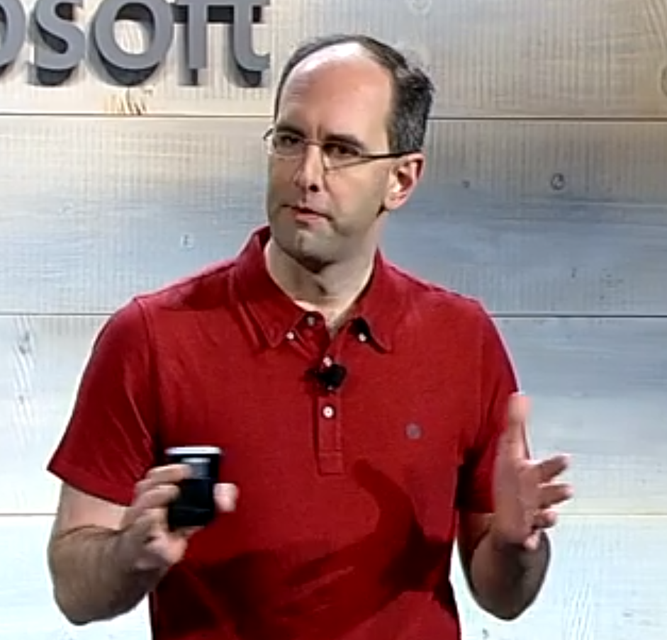 Microsoft's Scott Guthrie presents the Cloud Platform System