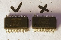 Counterfeit FTDI USB-to-serial adapter chips