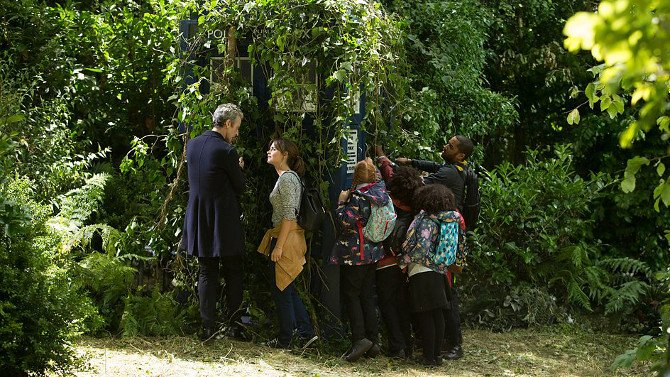 Doctor Who, Clara, Danny Pink and Year 8 In the Forest of the Night