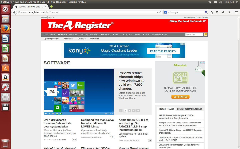 Ubuntu 1410 browser