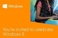 The invitation for the Windows 8 launch in October 2012