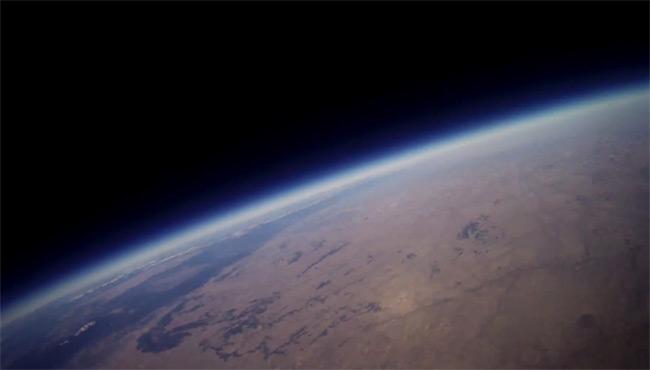 Video still from Saturday's Edge flight