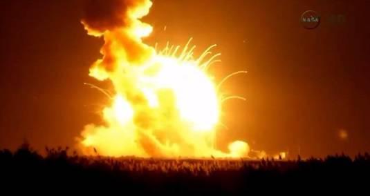Antares rocket fails