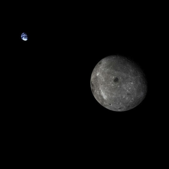 Earth and moon from Chang'e 5t1