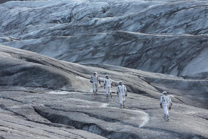 Alien world view in Interstellar