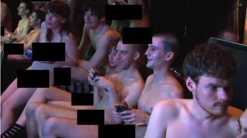 Tattooed girl naked posing