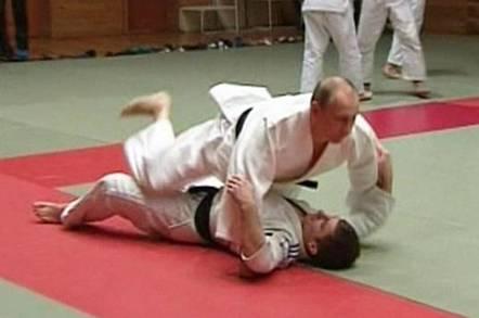 President Putin doing judo