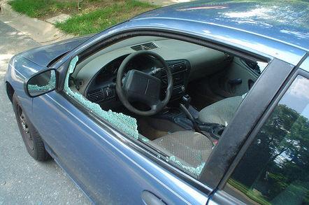 Broken car window: Credit: Brian Drew