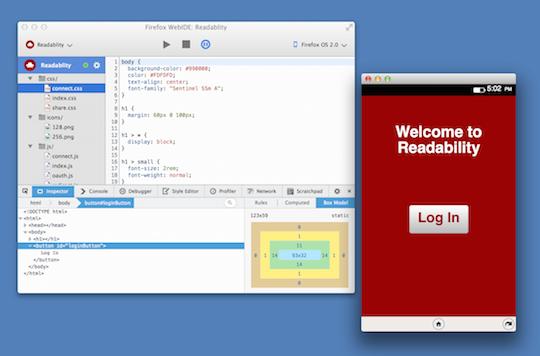 Mozilla's WebIDE tool