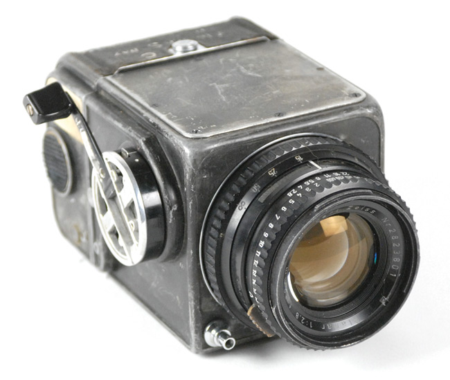 View of the first Hasselblad in space