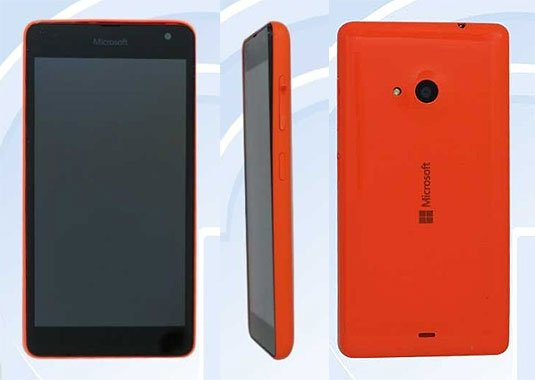 Leaked images showing a Microsoft-branded smartphone