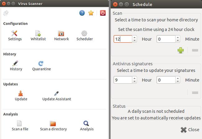 ClamTK antivirus utility