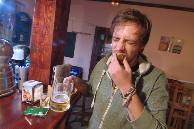 Matt tries a Scotch egg