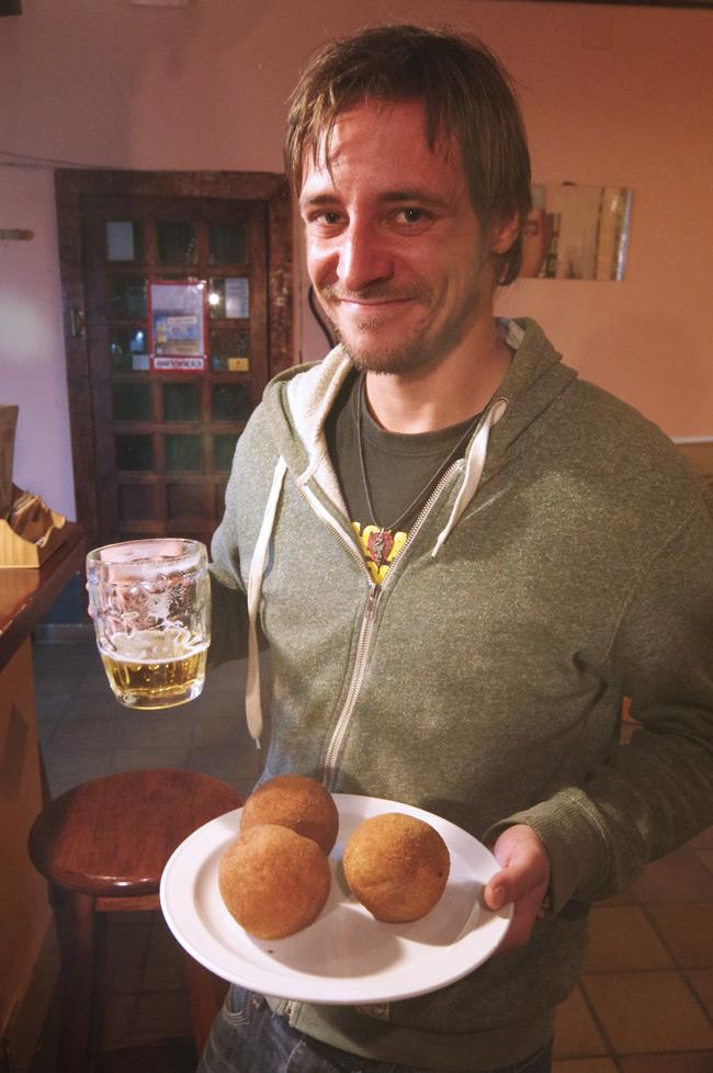 Matt Haines presents the Scotch eggs