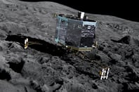 Artist's impression of Philae on Comet 67P