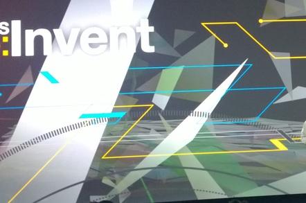 Docker CEO Brian Golub on stage at Reinvent