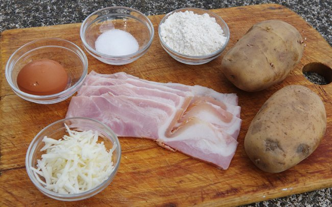 The ingredients you'll need for bryndzov halusky