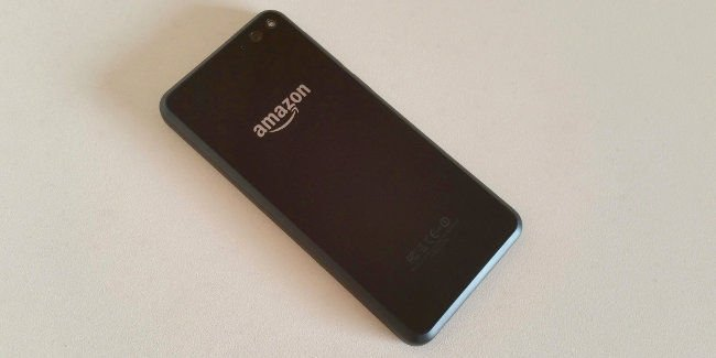 Amazon Fire Phone rear view. Pic: Alun Taylor