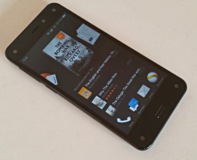Amazon Fire Phone top and bottom bezels. Pic: Alun Taylor