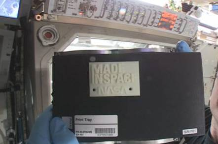 First part from 3D printer on ISS