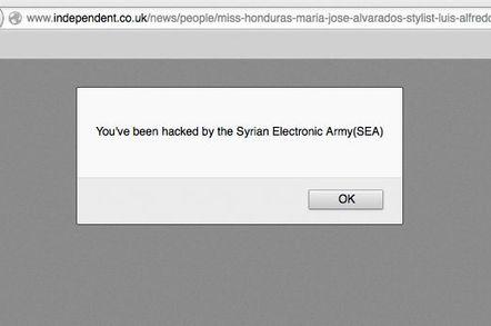 SEA hack the Independent website