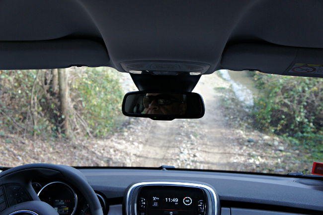 Fiat 500X looking out through the windscreen