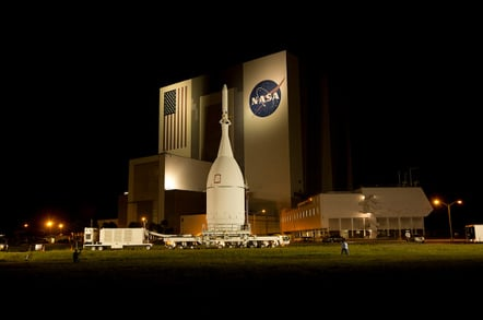 Orion on the launch pad