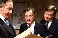 still from bbc '80s political satire show yes prime minister