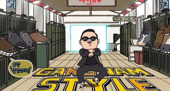 Cartoon of Psy gangnam style