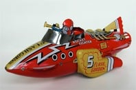 Red rocket toy