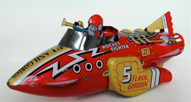 Red rocket toy