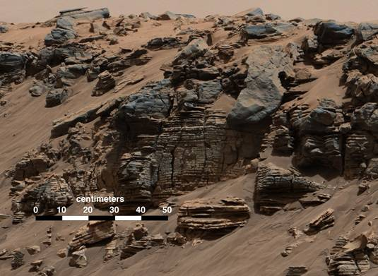 Sedimentary rocks at Mount Sharp