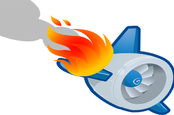 flaming plane engine