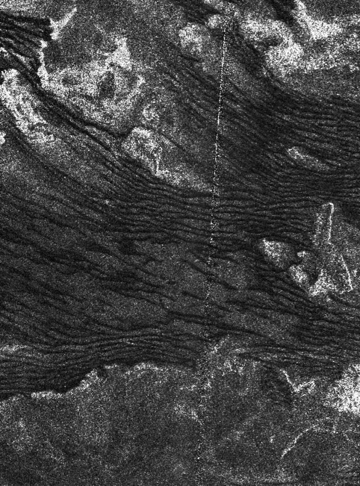 Sand dunes shown on Titan's surface