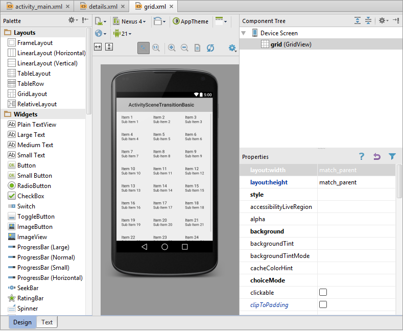 The new module wizard in Android Studio