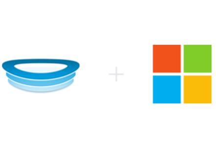 HockeyApp + Microsoft logos