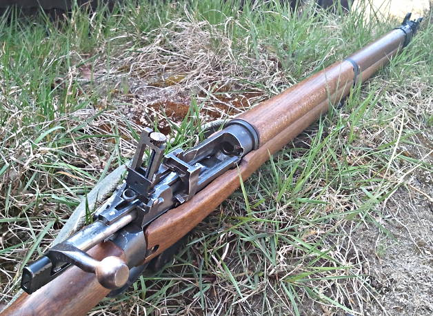 The rebuilt Lee Enfield No.4. Pic: Gareth Corfield